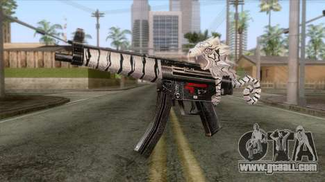 MP5 Tiger Skin for GTA San Andreas