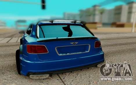 Bentley Bentayga for GTA San Andreas back left view