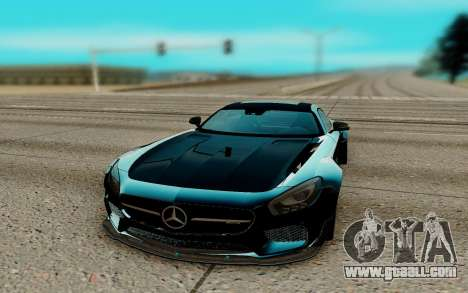 Mercedes AMG GTR for GTA San Andreas back view
