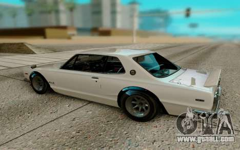 Nissan Skyline GT R Coupe 1969 for GTA San Andreas back left view