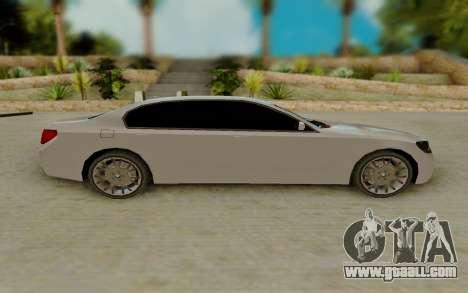 BMW 7 Series 750Li xDrive for GTA San Andreas left view