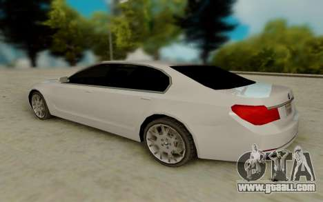 BMW 7 Series 750Li xDrive for GTA San Andreas back left view