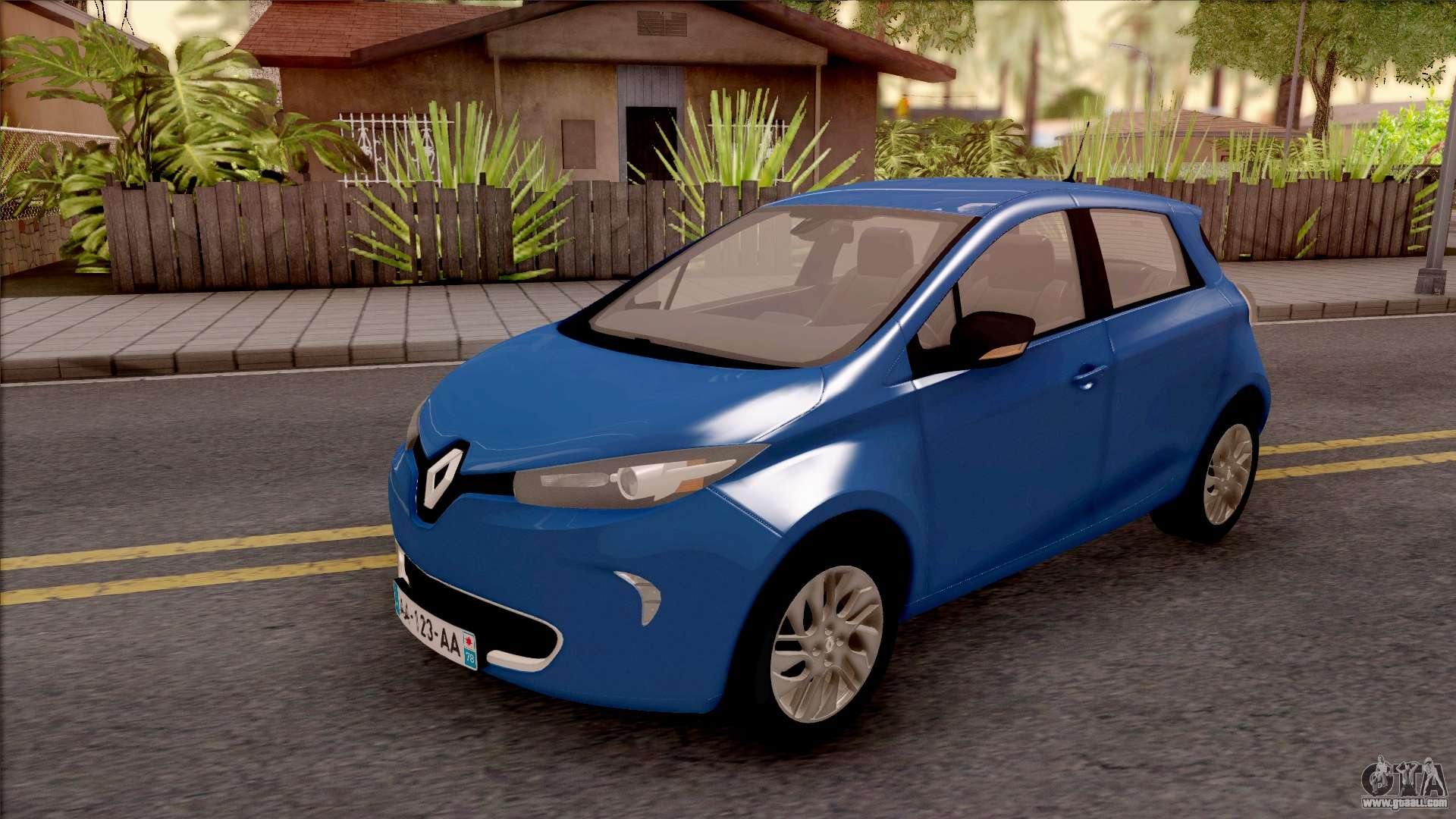 renault zoe 2013 for gta san andreas. Black Bedroom Furniture Sets. Home Design Ideas