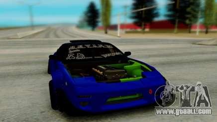 Nissan 180SX blue for GTA San Andreas