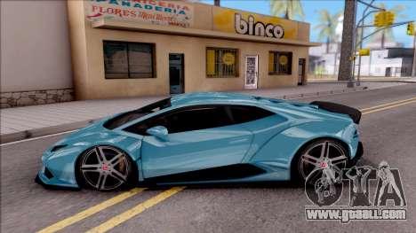 Lamborghini Huracan LB Team-eXtreme for GTA San Andreas left view