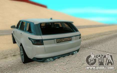 Land Rover Range Rover Sport for GTA San Andreas back view