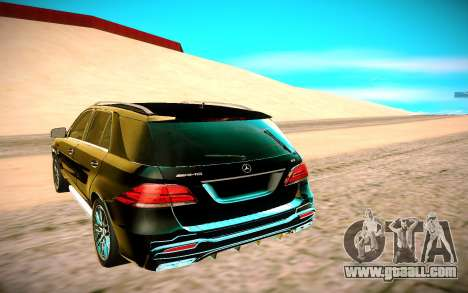 Mercedes-Benz ML63 AMG for GTA San Andreas back view
