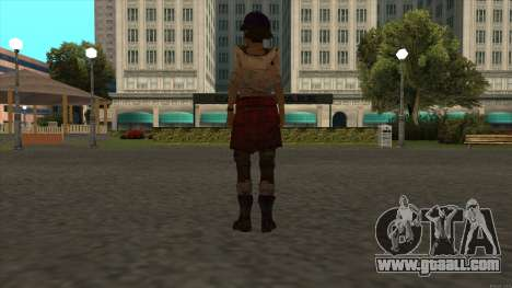 Clementine from The Walking Dead - season 3 for GTA San Andreas forth screenshot