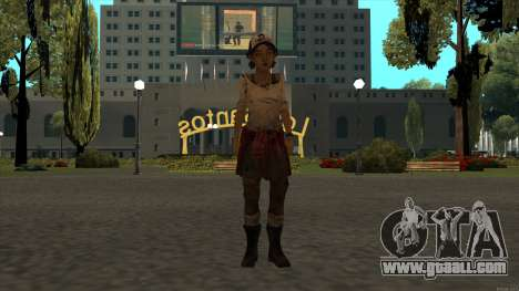 Clementine from The Walking Dead - season 3 for GTA San Andreas second screenshot
