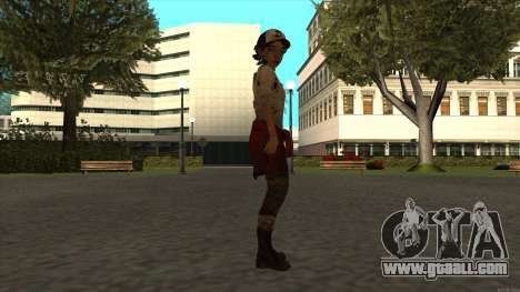 Clementine from The Walking Dead - season 3 for GTA San Andreas third screenshot