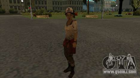 Clementine from The Walking Dead - season 3 for GTA San Andreas