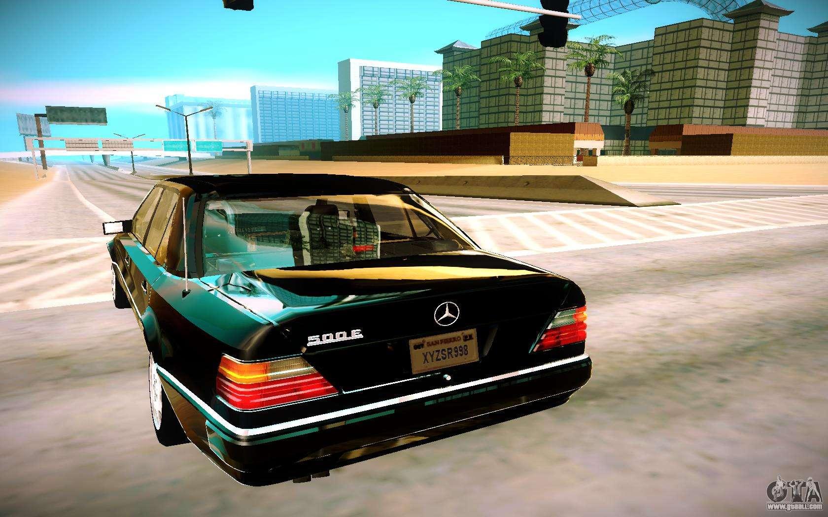 Mercedes benz e500 w124 1992 for gta san andreas for Mercedes benz games