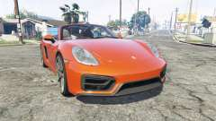 Porsche Boxster GTS (981) v1.2 [replace] for GTA 5