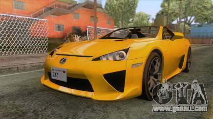 Lexus LFA Roadster 2013 for GTA San Andreas