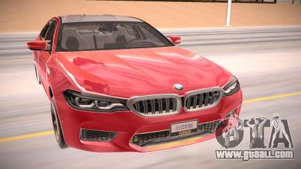 BMW M5 F90 red for GTA San Andreas