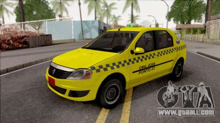 Renault Logan Taxi for GTA San Andreas