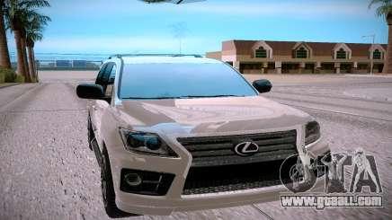 Lexus LX570 silver for GTA San Andreas