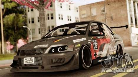 Mitsubishi Lancer Evolution VIII for GTA San Andreas