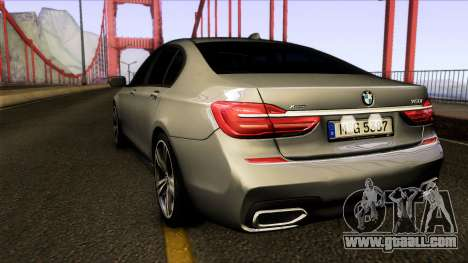 BMW 760i 2017 for GTA San Andreas back left view