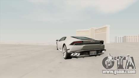 Lamborghini Huracan SA Plate for GTA San Andreas