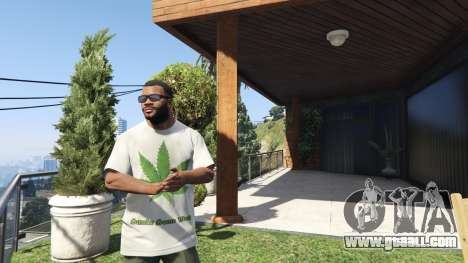 GTA 5 T-Shirt Green Leaf