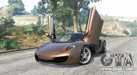 GTA 5 McLaren MP4-12C 2011 v1.1 [replace] right side view