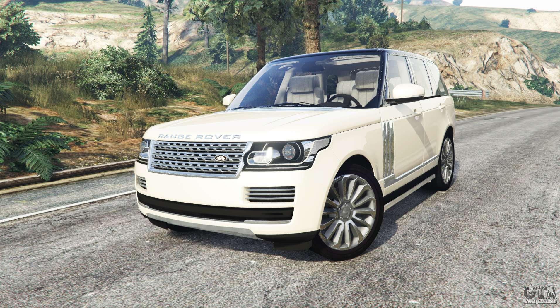 land rover range rover vogue 2013 v1 3 replace for gta 5. Black Bedroom Furniture Sets. Home Design Ideas