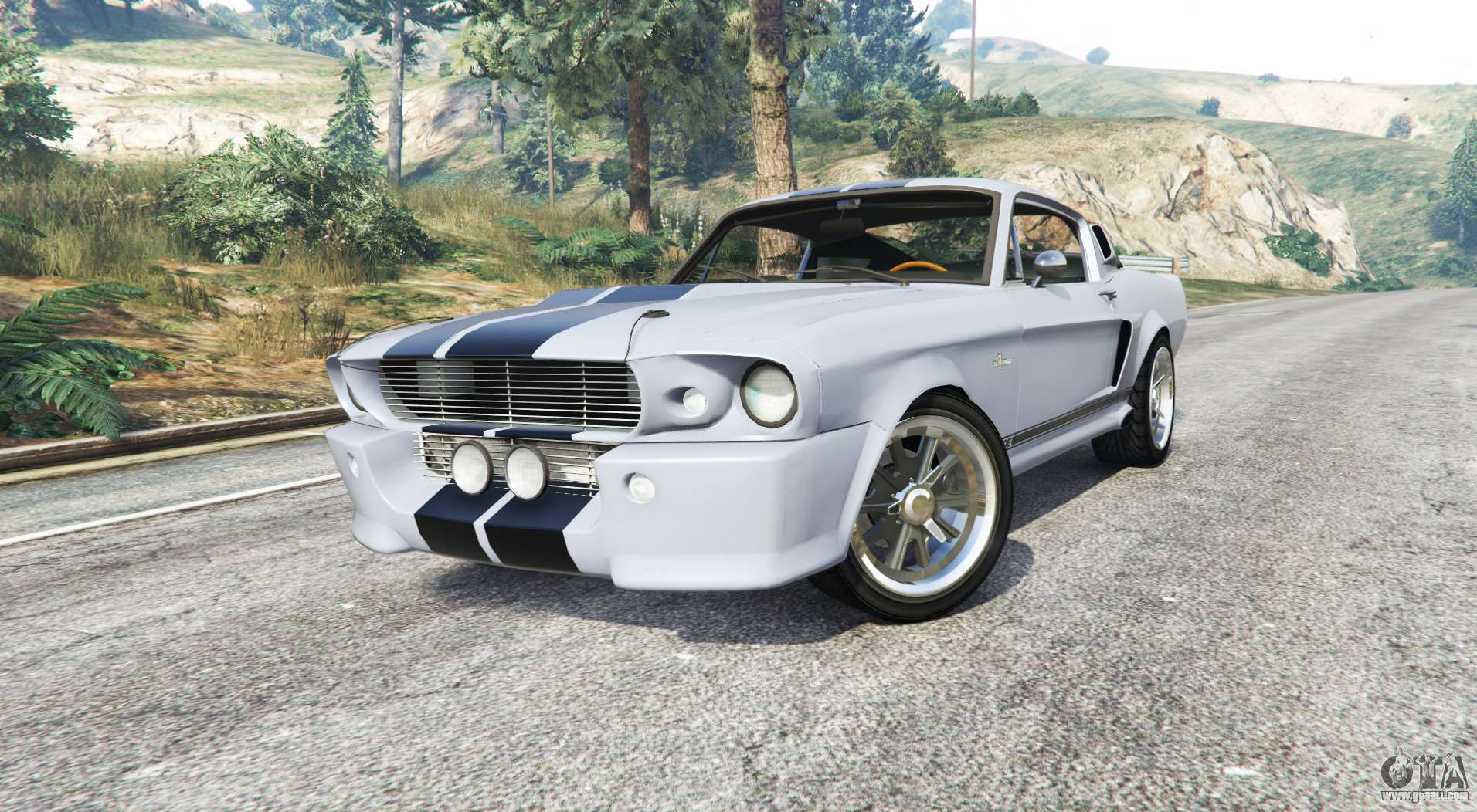 ford shelby mustang gt500 eleanor 1967 replace for gta 5. Black Bedroom Furniture Sets. Home Design Ideas