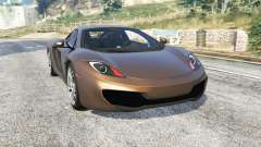 McLaren MP4-12C 2011 v1.1 [replace] for GTA 5