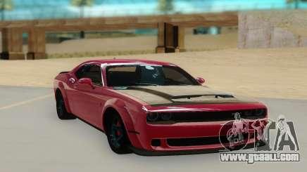 2018 Dodge Challenger Demon SRT for GTA San Andreas