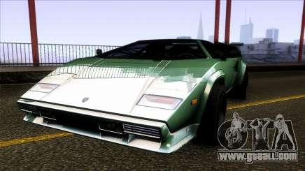 Lamborghini Countach Extra Wide Wheels for GTA San Andreas