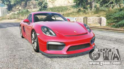 Porsche Cayman GT4 (981C) 2016 v1.2 [replace] for GTA 5