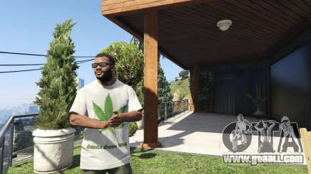 T-Shirt Green Leaf for GTA 5