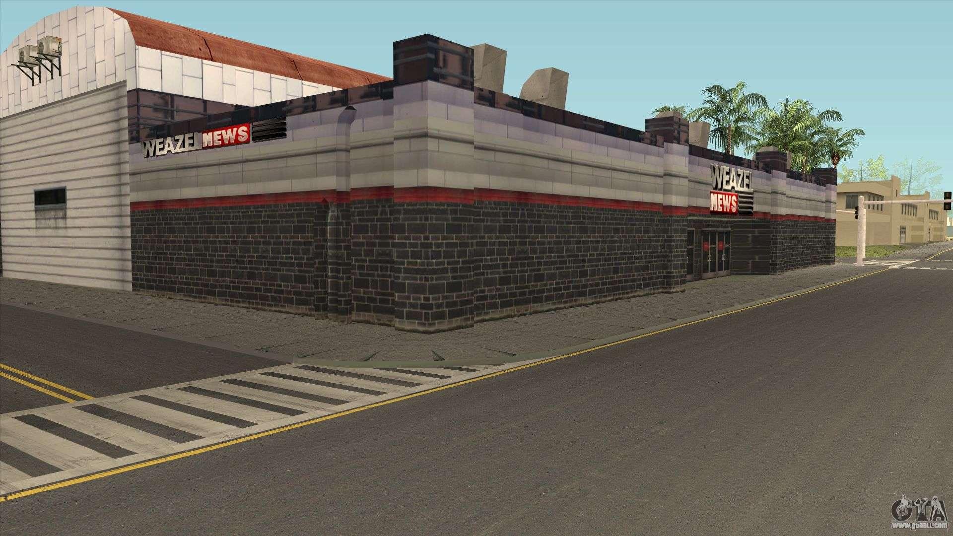 The WEAZEL News building for GTA San Andreas