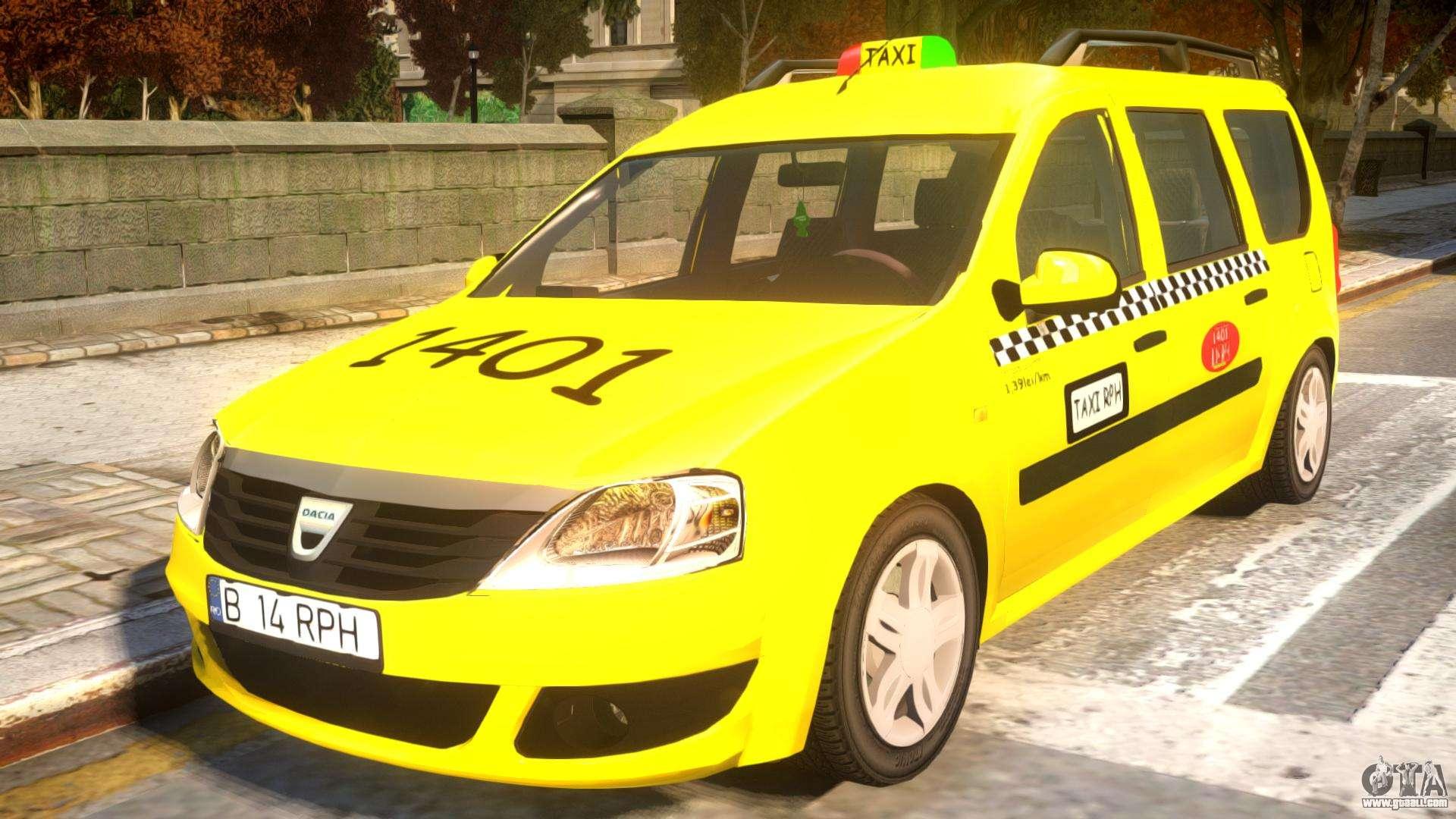 dacia logan mcv taxi for gta 4. Black Bedroom Furniture Sets. Home Design Ideas