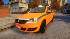 Renault Logan 2013 Taxi Do Rio De Janeiro for GTA 4