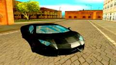 Lamborghini Aventador чёрный for GTA San Andreas