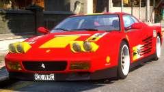 Ferrari 512 TR Evo Testarossa Rel for GTA 4
