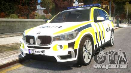 BMW X5 Norwegian Police for GTA 4