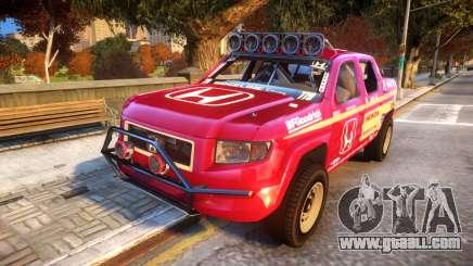 Baja 1000 Honda Ridgeline for GTA 4
