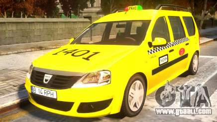 Dacia Logan MCV Taxi for GTA 4