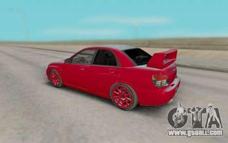 Subaru Impreza STI for GTA San Andreas