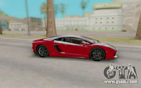 Lamborghini Aventador for GTA San Andreas left view