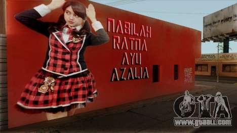 Wall LS Nabilah JKT48 for GTA San Andreas