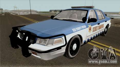 Ford Crown Victoria 2011 Red County Police for GTA San Andreas