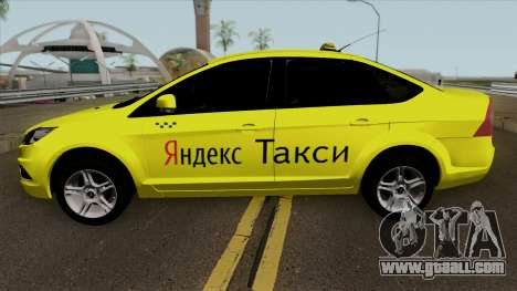 Ford Focus 2 Sedan 2009 Yandex Taxi for GTA San Andreas left view