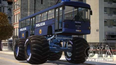 Bus Monster Truck V3 for GTA 4