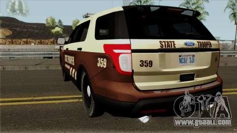 Ford Explorer 2012 Bone County Police for GTA San Andreas