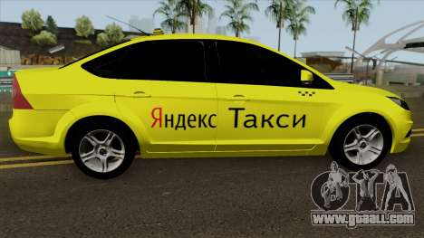 Ford Focus 2 Sedan 2009 Yandex Taxi for GTA San Andreas back view