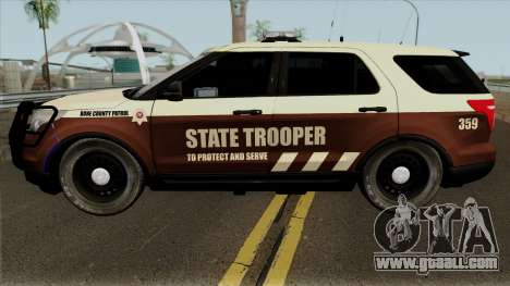 Ford Explorer 2012 Bone County Police for GTA San Andreas